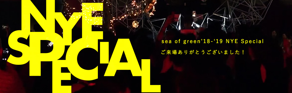 sea of green18-19 NYE Special 終了